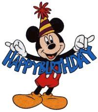 Gifs cumpleaños con Mickey.