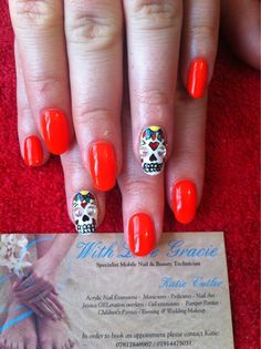 Jessica GELeration with skull accent nails. Created by With Love Gracie.