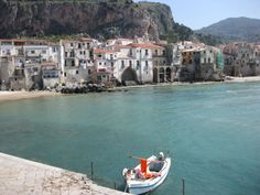 View of Cefalu from the long pier