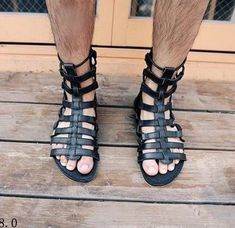 The Best Men's Shoes And Footwear : gladiator sandals from taobao -Read More – Gladiator Sandals For Men, Leather Sandals, Male Sandals, Roman Sandals, Mode Masculine, Women's Shoes, Best Shoes For Men, Male Feet, Dress Sandals