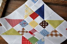 scrappy stars...oh how I love this one....especially with the white background!! Good use for all my scraps....