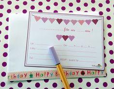 Une jolie carte d'invitation pour un anniversaire !