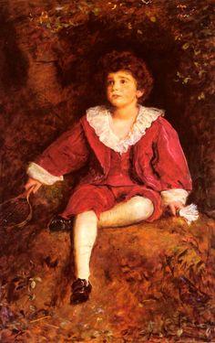 John Everett Millais (1829 - 1896, British) The Honourable John Nevile Manners 1896