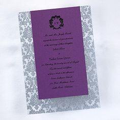 Clearly Filigree Invitation - Silver weddingneeds.carlsoncraft.com