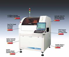 Check out our fully automatic inline stencil printer with automatic vision alignment - Manncorp AP2500