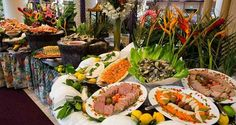 Cafe Sierra Weekend Buffet - Seafood Display includes shrimp, mussels, oysters, crab legs, pate, and much more!: