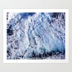 Sea water foam, view from above Art Print by Kostas Pavlis - X-Small From The Ground Up, Buy Frames, Printing Process, Gallery Wall, Tapestry, Sea, Art Prints, Water, Artist