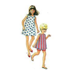 Girls Easy Dress Pattern Sundress Square Neckline by HoneymoonBus, $7.99