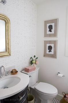 Top 10 Posts of 2017/ French Powder Room Makeover - So Much Better With Age #frenchvintage#frenchdecor#homedecor#vintagedecor