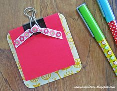 DIY small clip boards for student wishlists