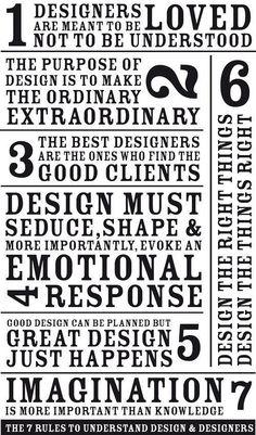 The 7 commandments for designers