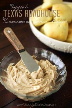 Copycat Texas Roadhouse Cinnamon Honey Butter #copycat #recipe #texasroadhouse #butter