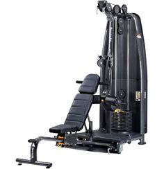 A93 Functional Trainer  - 3 sets roterende pulleys - Accessoires zijn inclusief - Multi purpose adjustable bench  - Biedt een onbeperkt scala aan oefeningen - Zeer compact