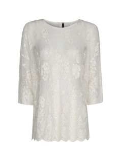 MANGO - Cotton embroidery tulle blouse