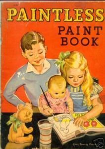 Paint books.  Just needed water and a paint brush to make magic.
