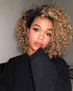 Pin by Allison on Curly hair care in 2019 Curly Hair Styles, Curly Hair Care, Cute Hairstyles For Short Hair, Natural Hair Styles, Black Hairstyles, Colored Curly Hair, Black Curly Hair, Short Curly Hair, Big Hair