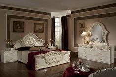 Stylish Design Furniture - Rococo - Italian Classic Beige Bedroom Set, $1,972.50 (http://www.stylishdesignfurniture.com/products/rococo-italian-classic-beige-bedroom-set.html)