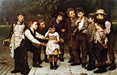 The Lost Child, Oil On Canvas by John George Brown (1831-1913, England)