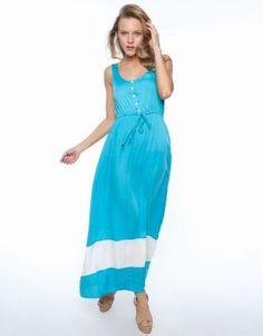 Shine Blocked Long Dress