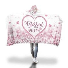 Christian christmast gift ideas - Surprise you mom with this blessed mom hooded blanket.