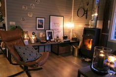 Designer bungalow close to the city - Bungalows for Rent in Mosfellsbær, Eilífsdalur, Iceland Holiday Apartments, Diy Sofa, All Wall, Iceland, This Is Us, Living Room, Interior Design, Bungalows, Recycled Materials