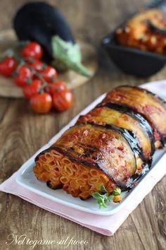 una deliziosa alternativa alla pasta al forno. #melanzane #ziti