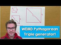 Weird shapes giving Pythagorean triples?! A graphical method for finding Pythagorean triples (triads). Why does it work? Weird Shapes, Does It Work, Math Resources, Giving, Mathematics, Classroom, Teaching, Activities