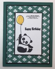 Party Panda Birthday Wishes - Stamping Creations With Marilyn Panda Birthday, Birthday Wishes, Happy Birthday, Panda Party, Stamping, My Favorite Things, Cute, Blog, Image