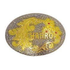 F204 – Limited Edition – 2008 - El Charro - Fibbia della collezione El Charro 2008.  Sfondo è  argentato, scritta dorata e tre fiori con un cuore di rosso brillante: perfetta su ogni cintura e in ogni occasione.  E' stata realizzata in Zamak (nickel free) e prodotta in soli 350 esemplari  Misura 10 x 7 cm.