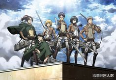 Attack on Titan 2016 << Haha I was wondering what Levi was doing there until I realized he was kneeling down XD.