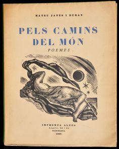 J.V. Foix: Pels camins del món.  Portada de Josep Obiols. Barcelona, 1928.