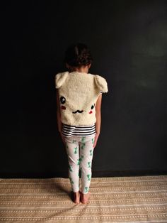 Tutorial... how to make a bunny vest for kids size 2-3 (includes patterns)