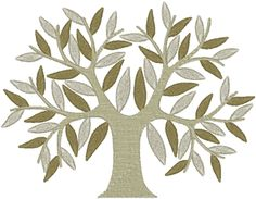 Stately Tree Embroidery Design