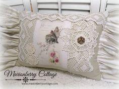 Home Sweet Home Victorian Birds pillow