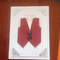 Vest card for anniversary - Made my Melrose