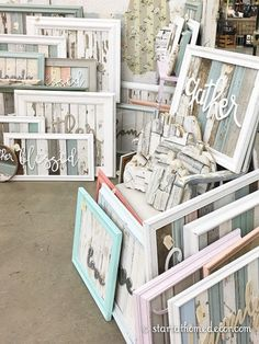Blessed, gather, family and more reclaimed wood signs by Start at Home Decor