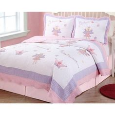Fairy Princess Garden Full/Queen Quilt and 2 Shams by Pem America Pem America,http://www.amazon.com/dp/B0017T8Y60/ref=cm_sw_r_pi_dp_.gyvtb03KP7SP4E4