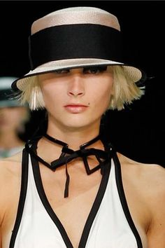 Emporio Armani Spring 2012 Collection From Tom+Lorenzo… Emporio Armani, Glamorous Chic Life, Corte Y Color, Love Hat, Schneider, Cool Hats, Summer Hats, White Fashion, Luxury Fashion