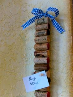 A quick wine cork craft project.  This mini memo strip can fit anywhere.    All I needed were a few wine corks,   a piece of wood in any...