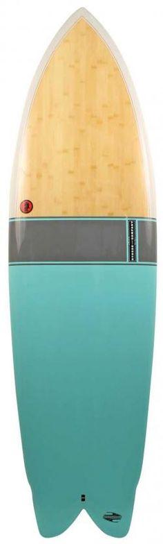 Boardworks Mike Hynson Black Night Quad Surfboard - Green
