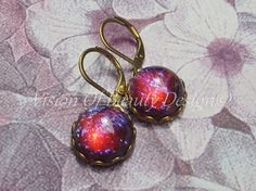 Mexican Opal Earrings  Dragons Breath by visionofbeautydesign