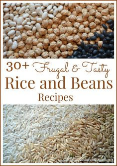 Looking for but tasty recipes? Rice and beans are a delicious way to keep your grocery budget in line without sacrificing taste. This list of recipes offers a variety of delicious ways to add these versatile, yet inexpensive ingredients into your menu. Frugal Meals, Cheap Meals, Budget Meals, Frugal Recipes, Inexpensive Meals, Budget Binder, Budget Meal Planning, Rice Recipes, Cooking Recipes