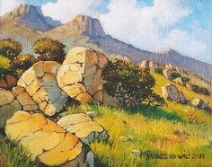 Hannes van der Walt - At the Foot of the Hill | Landscape Art Fine Art