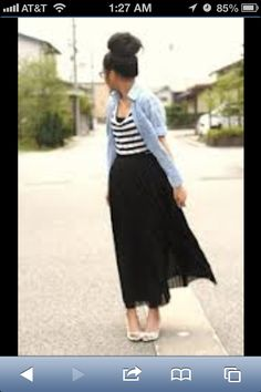 chambray button up, sheer maxi and heels  casual street chic