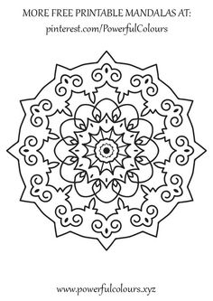 Intermediate Mandala 12 FREE colouring pages for adults Mandala