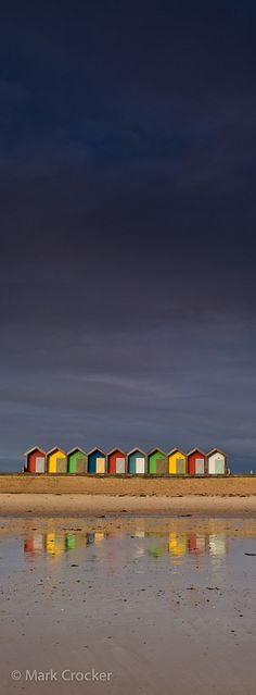England Travel Inspiration - Beach Huts on the North Sea, Blyth, Northumberland, UK Am Meer, North Sea, Landscape Design, Seaside, Coastal, Wanderlust, Beautiful Places, Scenery, Places To Visit