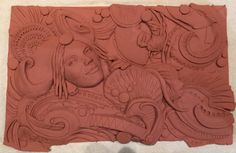Clay tile to be cast in glass