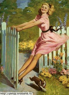 девушка в розовом, предпросмотр