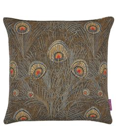 Liberty Art Fabrics Hera Linen Union Cushion In Slate | Home | Liberty.co.uk
