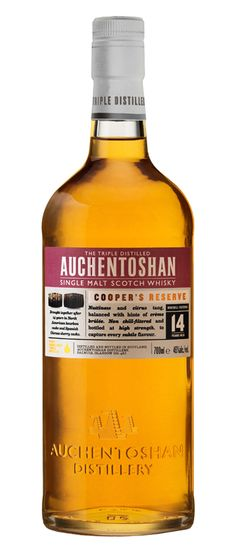 Auchentoshan Cooper's Reserve A limited release, Cooper's Reserve has been maturing for 14 years in North American bourbon casks and Spanish Oloroso sherry casks. This single malt has wonderfully subtle notes of gooseberry and green tea.